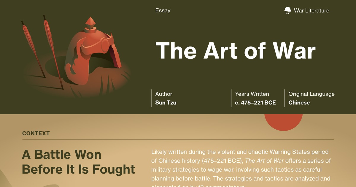The Art of War Study Guide | Course Hero