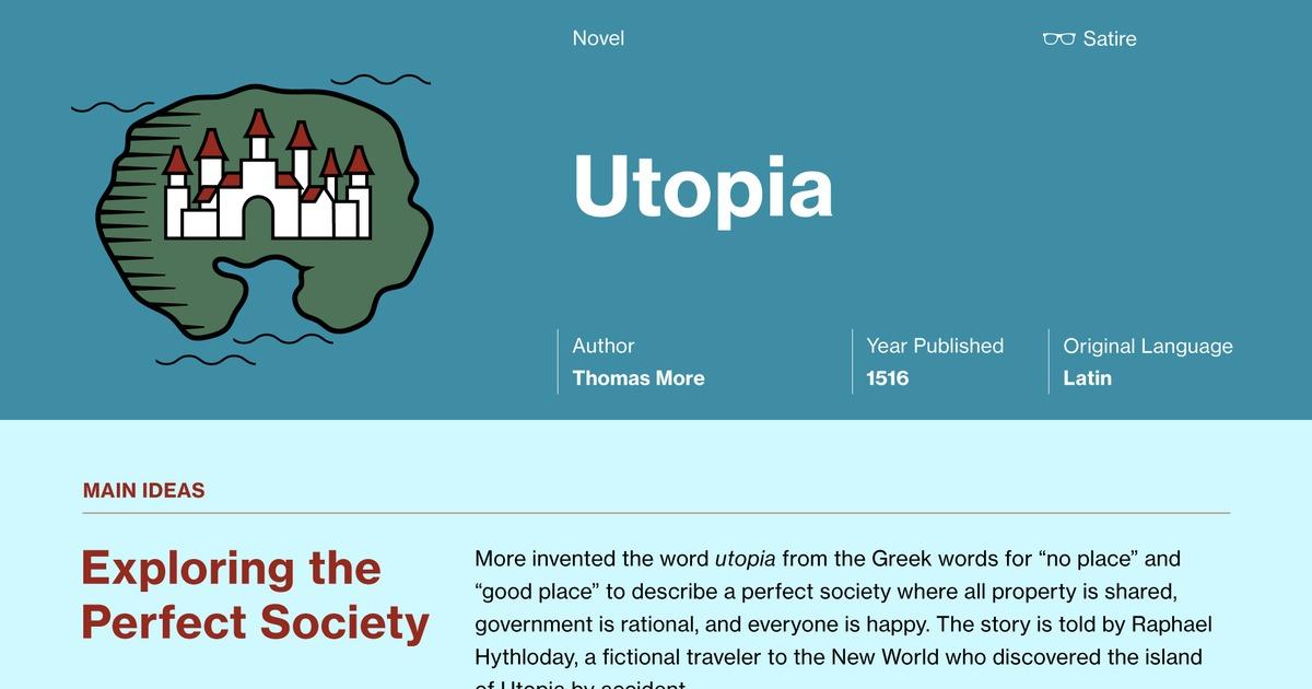 thomas more utopia summary