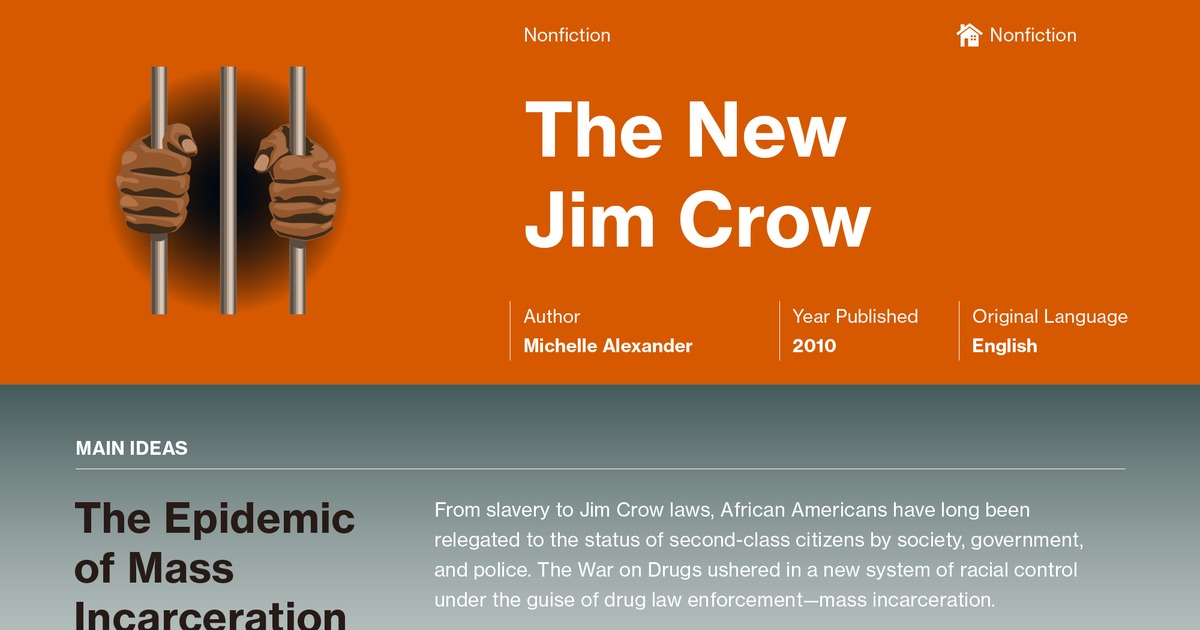 The New Jim Crow Introduction Summary Course Hero