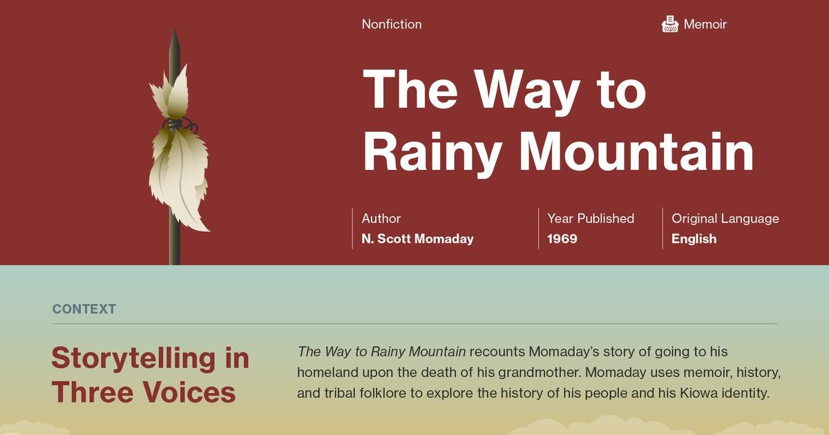 The Way To Rainy Mountain Quotes Course Hero