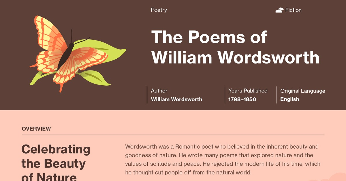 Poems Of William Wordsworth Selected Study Guide Course Hero