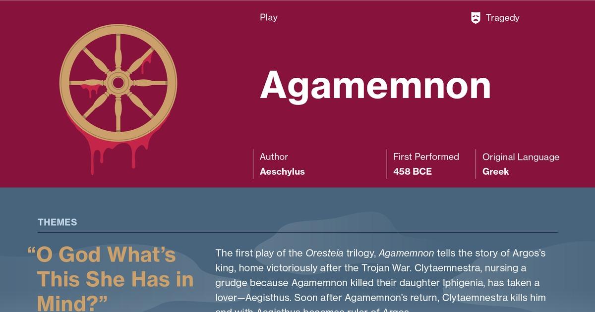 agamemnon tragic flaw