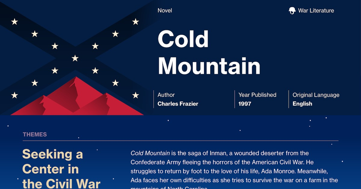 essay questions cold mountain The essay questions are posted here a few months before the penn state and schreyer honors college application is made available on august 1 we strongly encourage you to begin working on your essays immediately after they are posted.