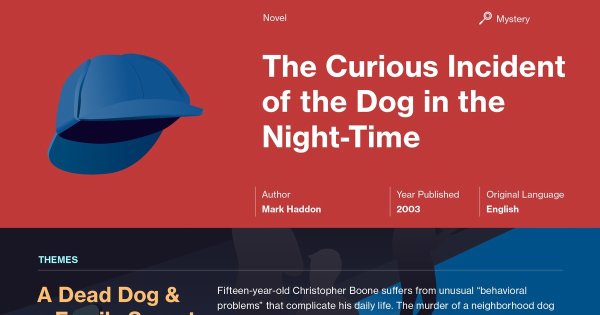 an analysis of the use of syntax in mark grahams the curious incident of the dog at nighttime