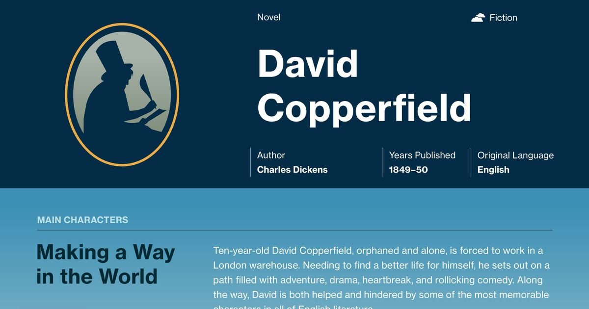 analysis of david copperfield Buy a cheap copy of david copperfield book by charles dickens david copperfield is the story of a young man's adventures on his journey from an unhappy and impoverished childhood to the discovery of his vocation as a.