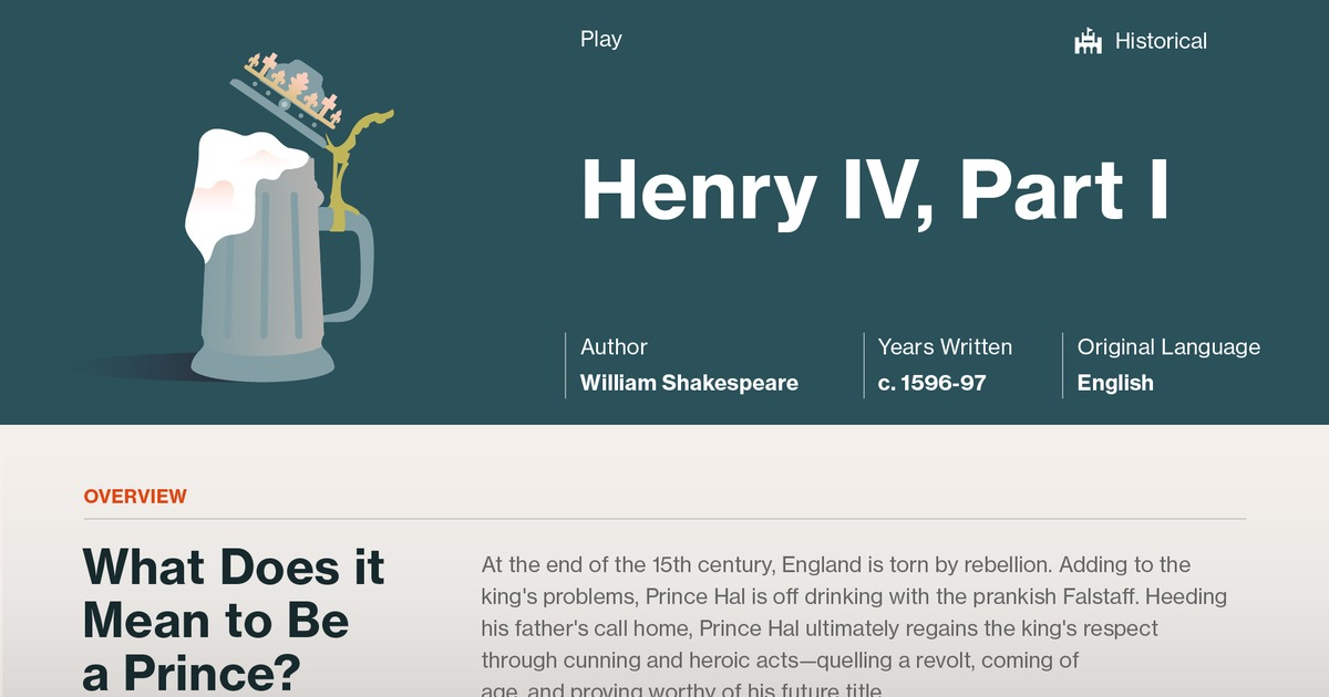 Henry IV, Part 1 Study Guide - Course Hero