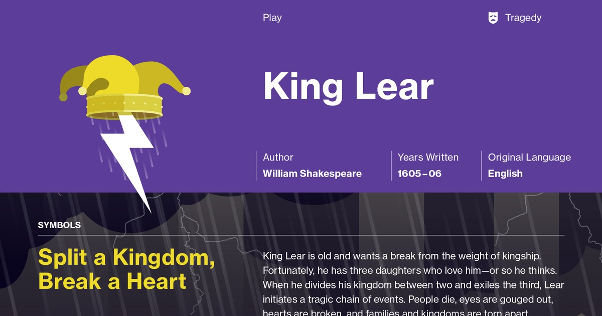 the conflict and loss portrayed in william shakespeares king lear Within the script shakespeare presents characters of great at this present time lear is full of conflict how does shakespeare present edmund in king lear.