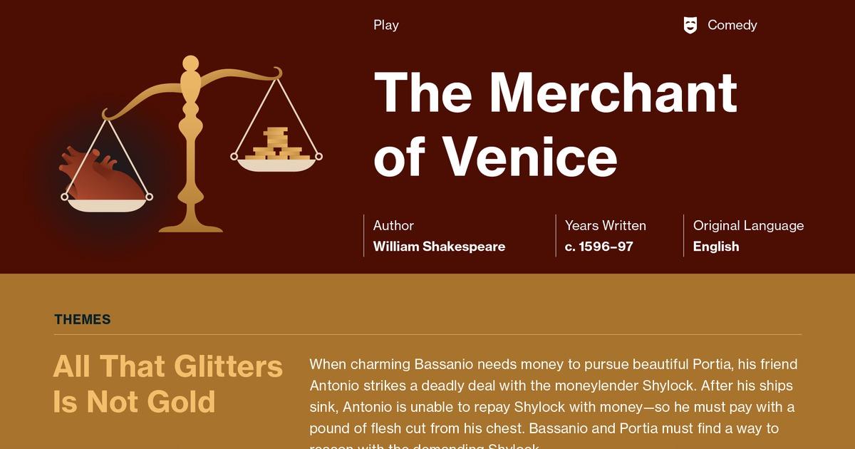 merchant of venice speech analysis A line-by-line dramatic verse analysis of portia's speech in act iv, scene 1.