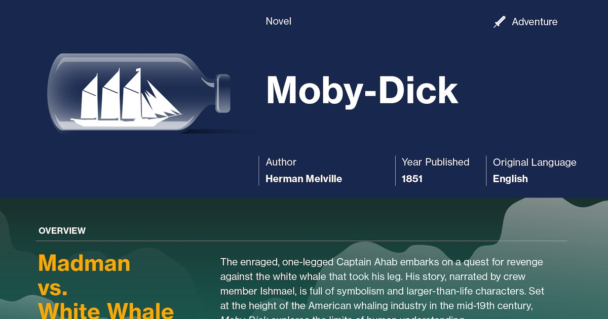 a literary analysis of captain ahab in moby dick