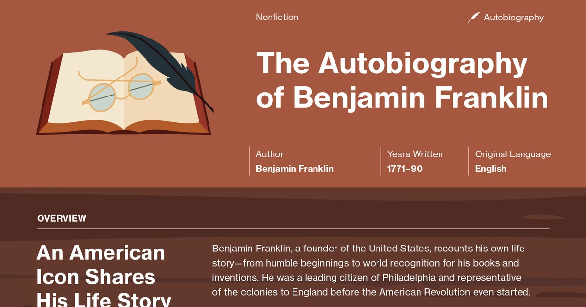 religious study in the autobiography of benjamin franklin Benjamin franklin 6th president of franklin's advocacy for religious tolerance in france contributed to arguments made by french in his autobiography.