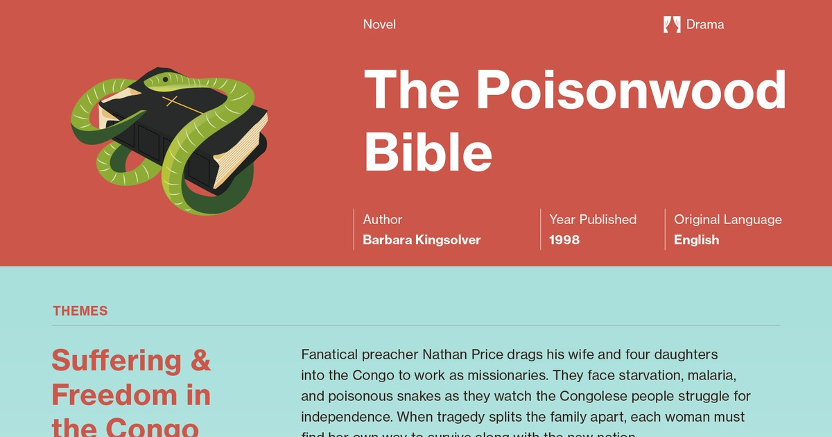 an analysis of the poisonwood bible by barbara kingsolver The poisonwood bible is a novel written by barbara kingsolver, published in 1998 the book was an immediate success and was chosen for oprah's book club in 1999.
