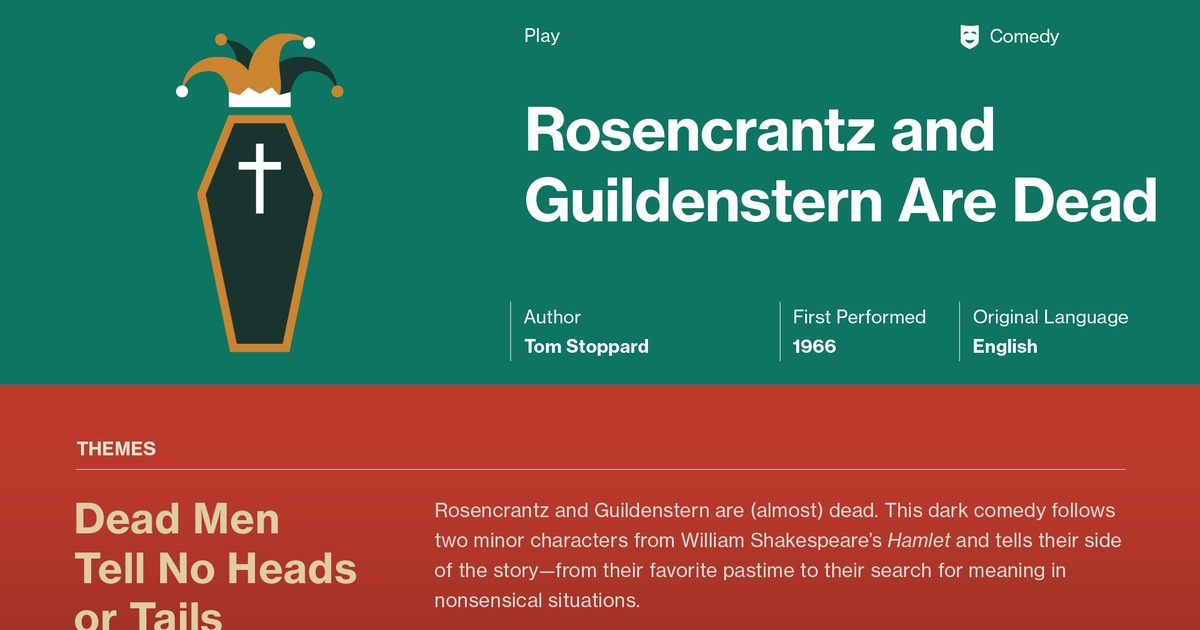 the experience learned in the discussion of rosencrantz and guildenstern are dead A summary of themes in tom stoppard's rosencrantz and guildenstern are dead learn exactly what happened in this chapter, scene, or section of rosencrantz and guildenstern are dead and what it means.