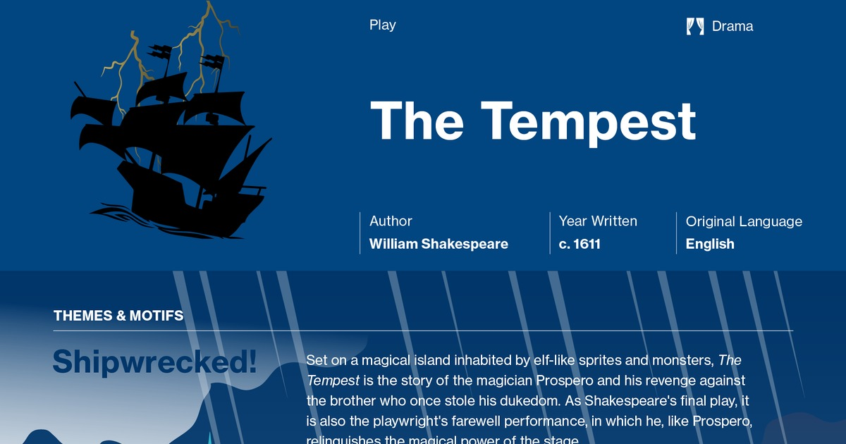 scene analysis in the tempest by william shakespeare