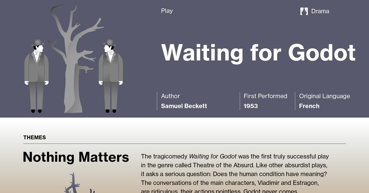examples for the characteristics of theatre of the absurd from waiting for godot