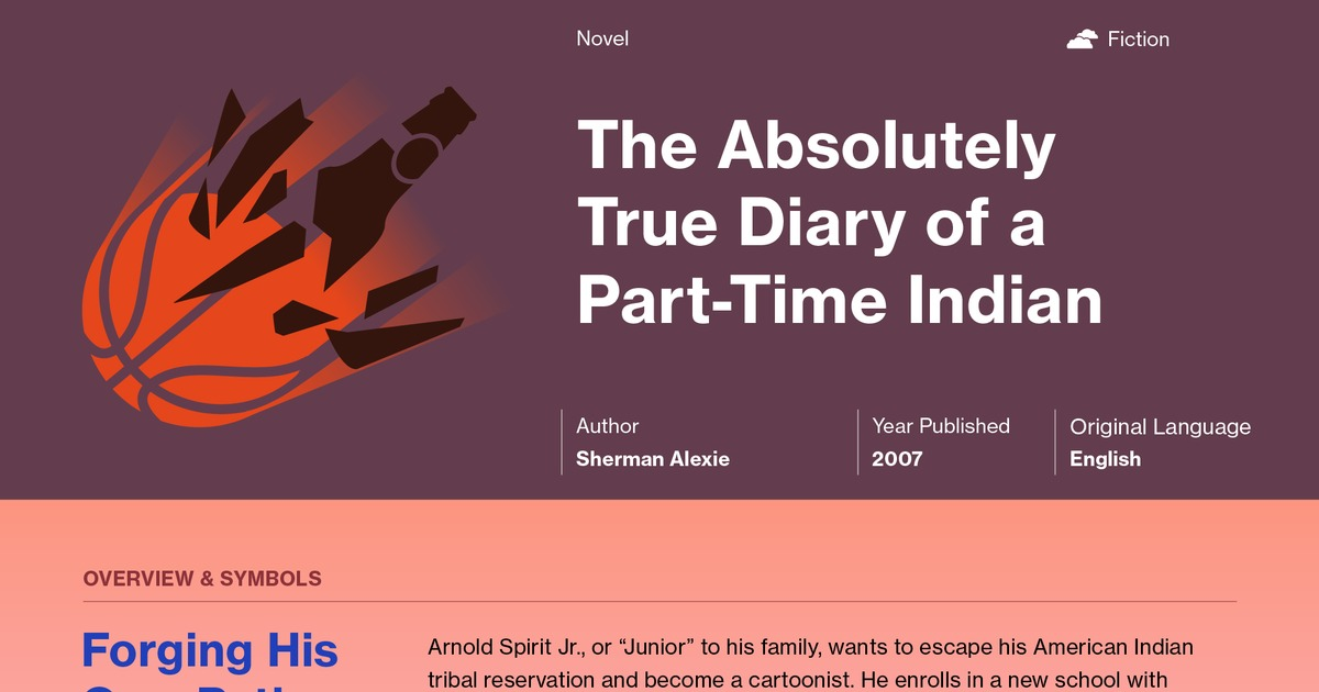 essay diary part time indian The absolutely true diary of a part-time indian is a humours yet insightful book written by sherman alexie the book is about a tale of a hydrocephalic indian named arnold spirit (usually called junior), living in an impoverished indian reservation.