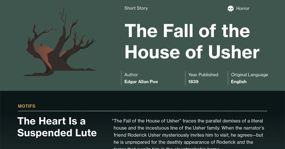 an analysis of the fall of the house by edgar allan poe This video introduces edgar allan poe's 'the raven' poe's the fall of the house of usher: edgar allan poe's the raven: summary and analysis related study.