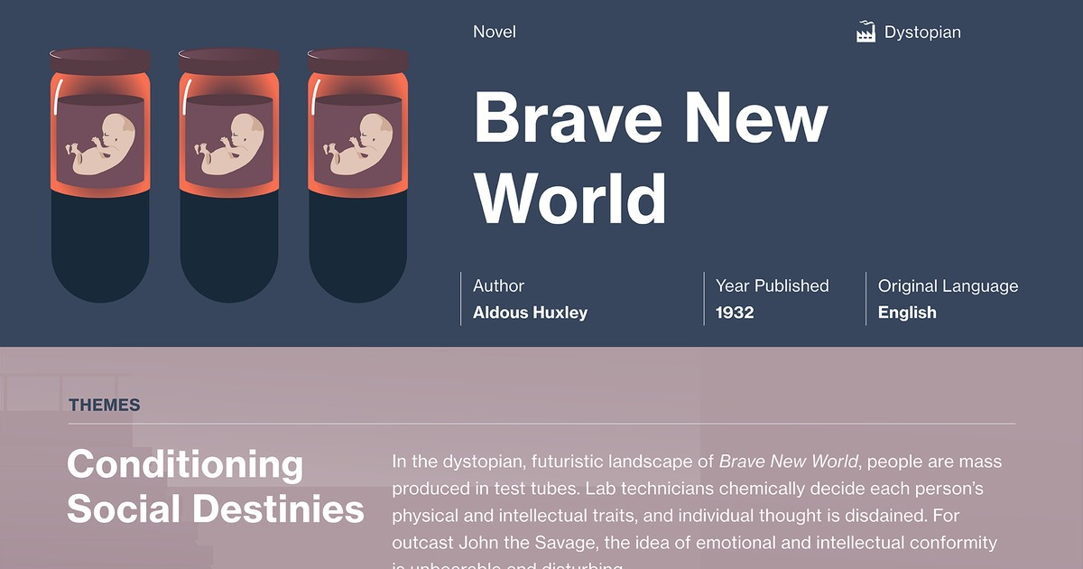 the lost of individuality in aldous huxleys brave new world In aldous huxley's brave new world  brave new world's preoccupation with the loss of individual intellectual and aldous huxley: brave new world:.