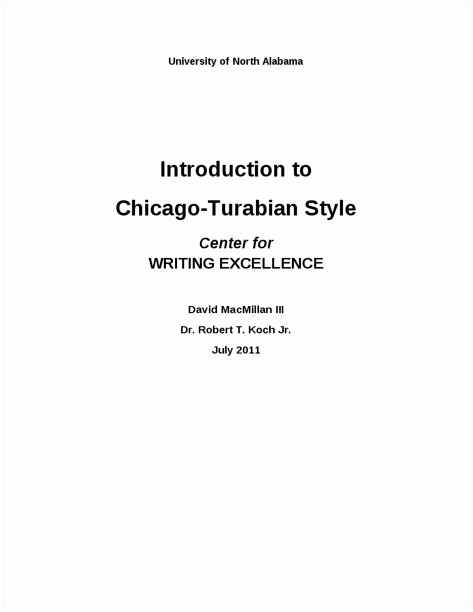 Turabian Style 8th Edition: Writing Guide: Home