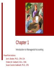 Session 9 - Managerial Chapters 1 & 2(1)