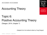 Topic 6 - Positive Acctg Theory - Chapter 7