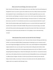 Thesis Statement For Analytical Essay  Pages Theology Essay Example Of A Thesis Statement In An Essay also English Sample Essays Theologyessay  Theology  Theo  Theology Essay Considering I  General English Essays