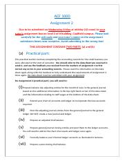 ACF1000 Assignment 2 instructions sem1_2015.docx