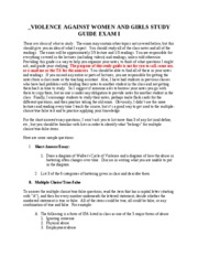 VAWG Study Guide 1