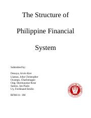 The Structure of Philippine Financial System.doc