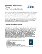 Group Social Media Policy