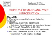 Demand and Supply part 1