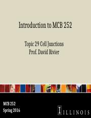 MCB 252 Topic 29 Cell Junctions Sp16.pptx