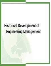 Lecture 1b - Historical Development of Engineeirng Management.ppt