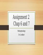 Assignment 2- Chap 6 and 7