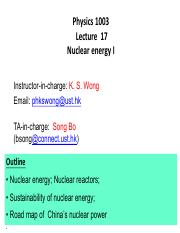 Lecture17 Nuclear Eng I