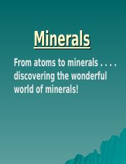 #1 chemistry review and minerals 2011-12 .ppt