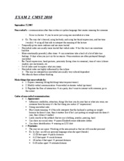 EXAM 2  CMST 2010 notes