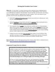 Writing the Portfolio Cover Letter (1)