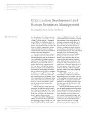 organization human resource management