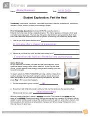 feel the heat.pdf - Name Akshaj Kammari Date Student ...
