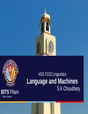 Linguistics-language and machines