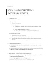 Social and Structual Factors in Health.docx