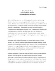 Anorexia nervosa essay