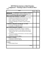 Assignment 2 Marking Guide