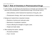 Topic 7. Role of Chemistry on Pharmaceutical drugs