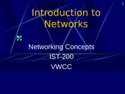 Introduction Computer Networking
