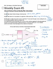 ENG 103 Winter 2014 SKR Weekly Exam 5 Solution
