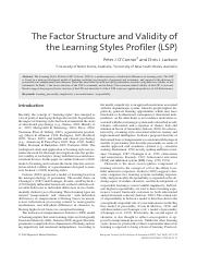 The factor structure and validity of the LSP.pdf