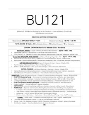 BU121 Midterm 1 2014 Ian Ko Notes Package