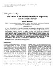Effects of Education on Poverty Red Cameroon 2010.pdf