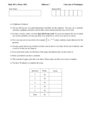 Math 307 Winter 2014 Midterm 2
